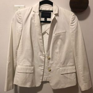 Banana republic white cotton blazer
